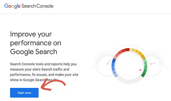 Start Google Search Console