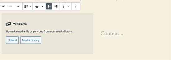 Media- en tekstblok