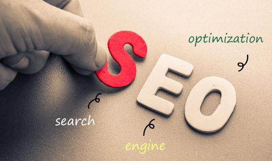 SEO - optimasi mesin pencari - dalam huruf