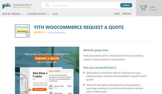 YITH WooCommerce Request a Quote