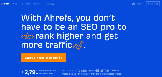 ahref best serp tracking tool