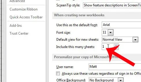 How To Change The Number Of Sheet Tabs In A Default Excel