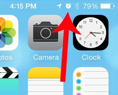 Clock Icon At The Top Of My Iphone
