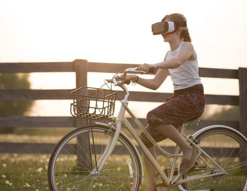 Augmented Reality, Bicycle, Bike, Child, Cyclist, Fence