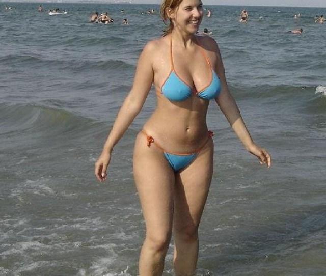 Busty Mom In Bikini On The Beach Jpg