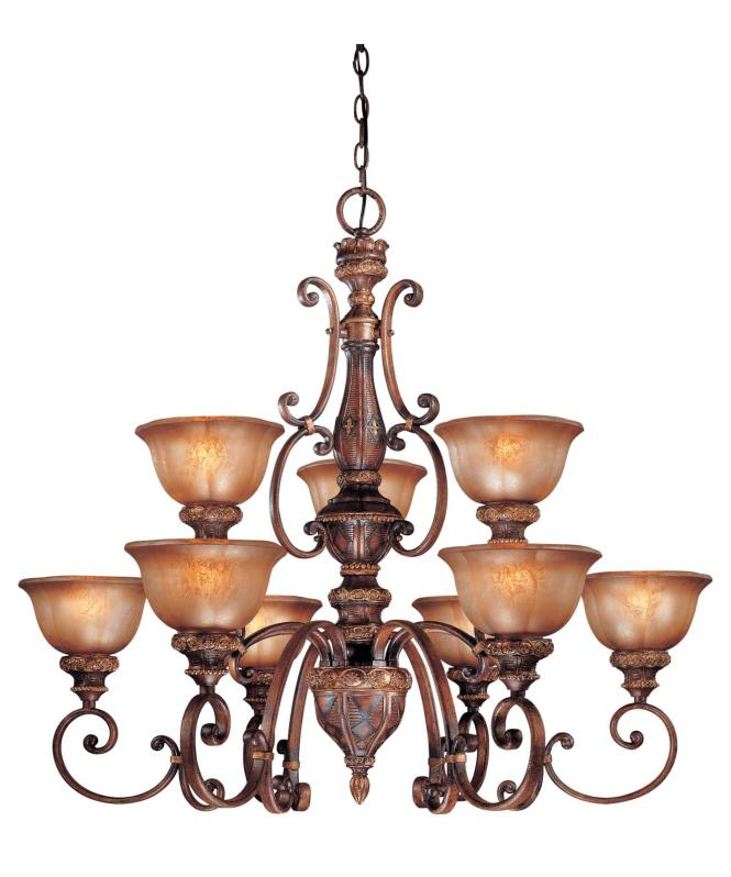 Shown In Illuminati Bronze Finish And Silver Patina Glass