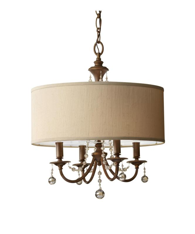 Shown In Firenze Gold Finish And Burnt Copper Shade