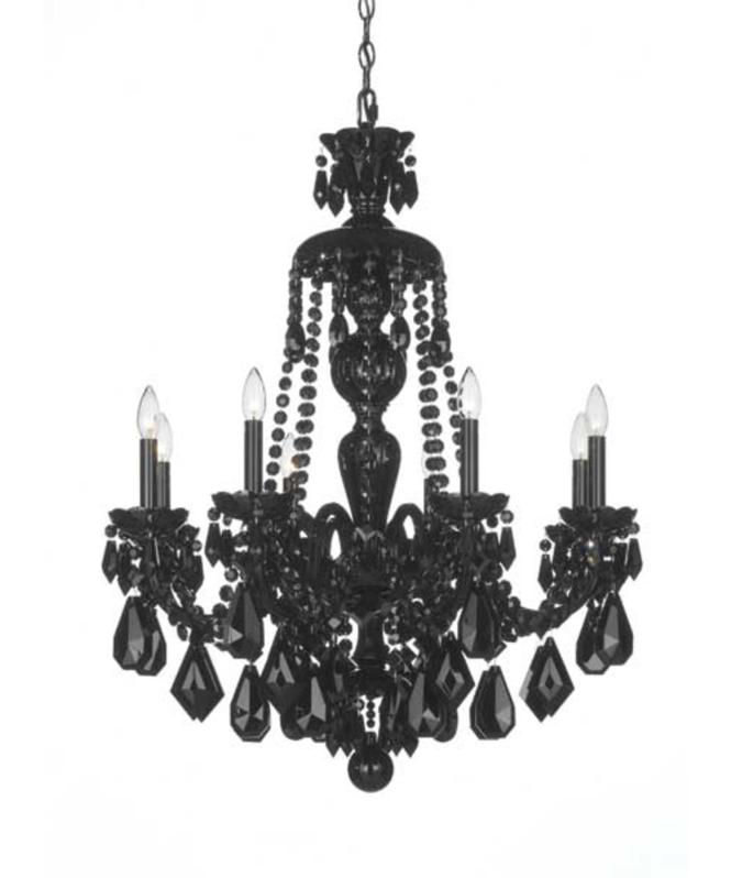 Shown In Wet Black Finish And Jet Crystal