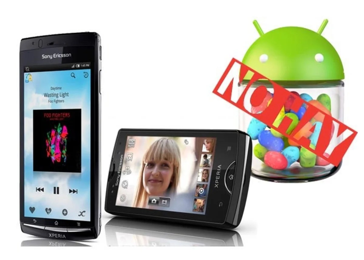 Sony no actualizará a Jelly Bean el Arc S ni Mini Pro