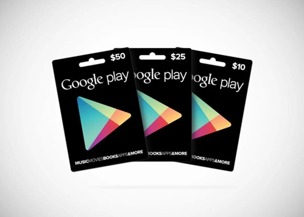 Las tarjetas regalo de Google Play ya a la venta en Estados Unidos