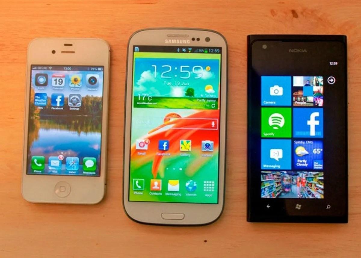Ventas Samsung > ventas Apple + ventas Nokia