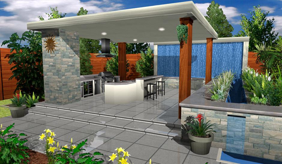 architect 3d garden and exterior plan