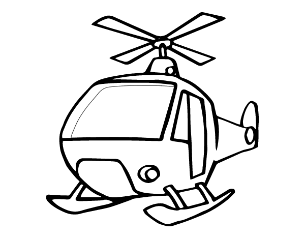 helicopter coloring page coloringcrew com
