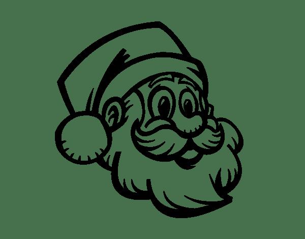 santa face coloring page coloringcrew com