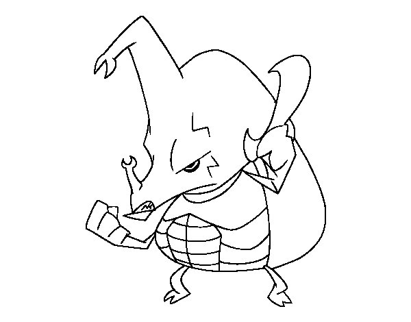 angry rhinoceros beetle coloring page coloringcrew com
