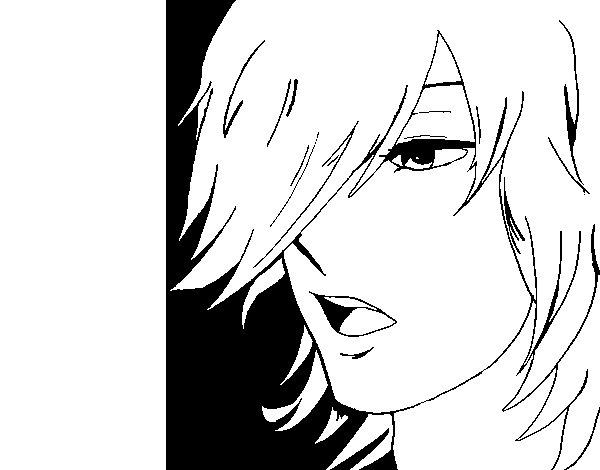 anime boy coloring page coloringcrew com