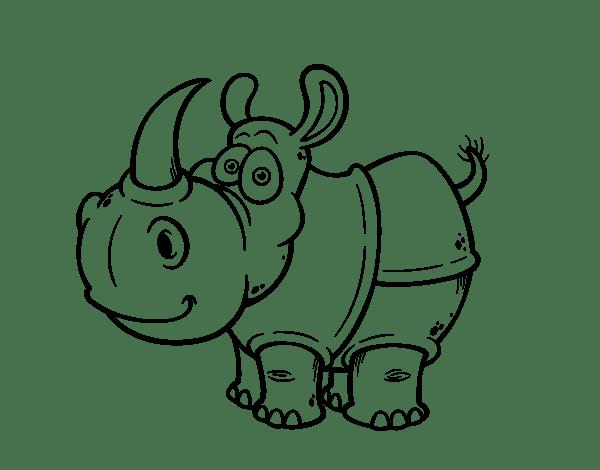 javan rhinoceros coloring page coloringcrew com
