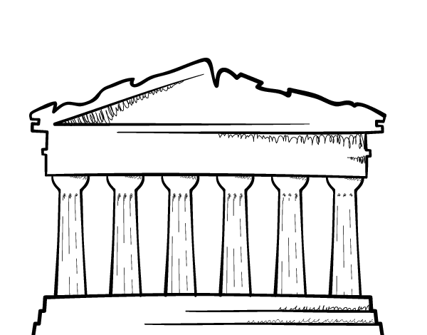 greek columns coloring pages