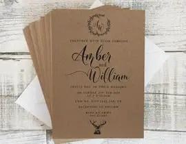 Design A Rustic Wedding Invite Template
