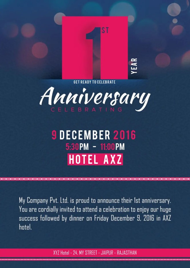 Contest Entry 16 For Design A A5 Single Side Invitation Card Corporate Event