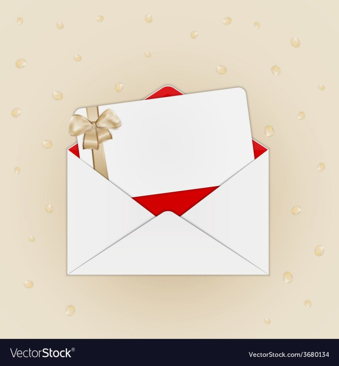 Invitation Card With Envelope Vector Image