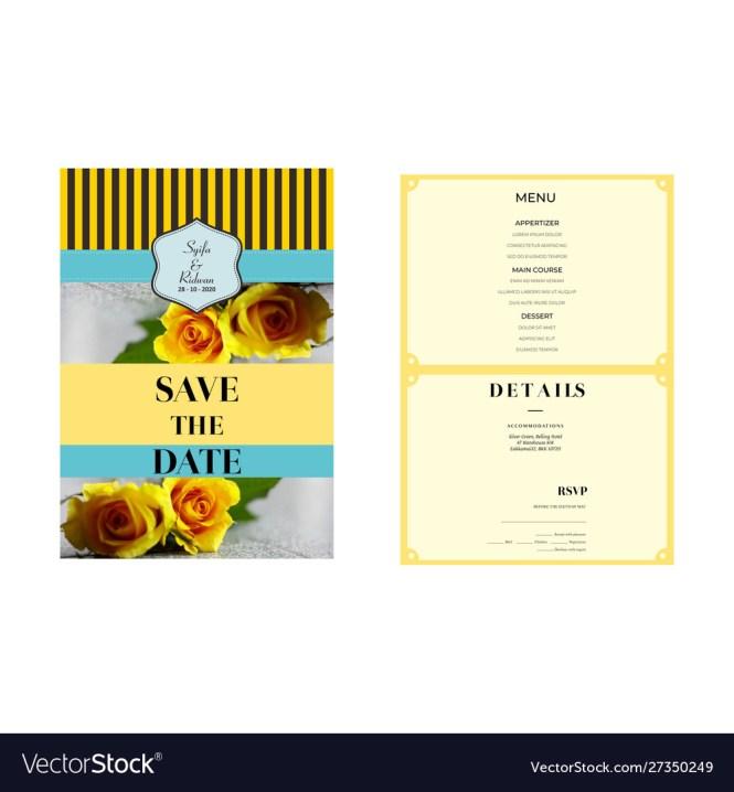 Yellow Flowers Wedding Invitation