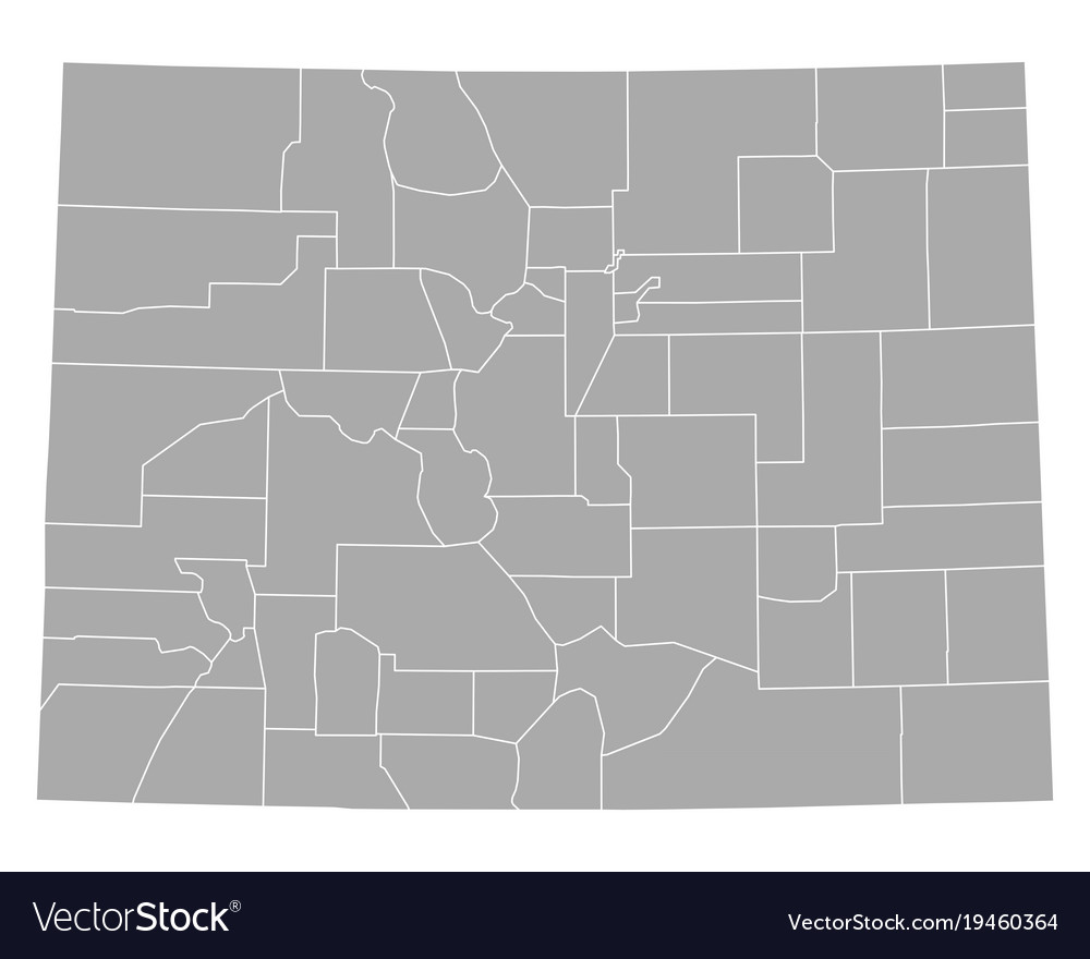 Map of colorado Royalty Free Vector Image   VectorStock Map of colorado vector image