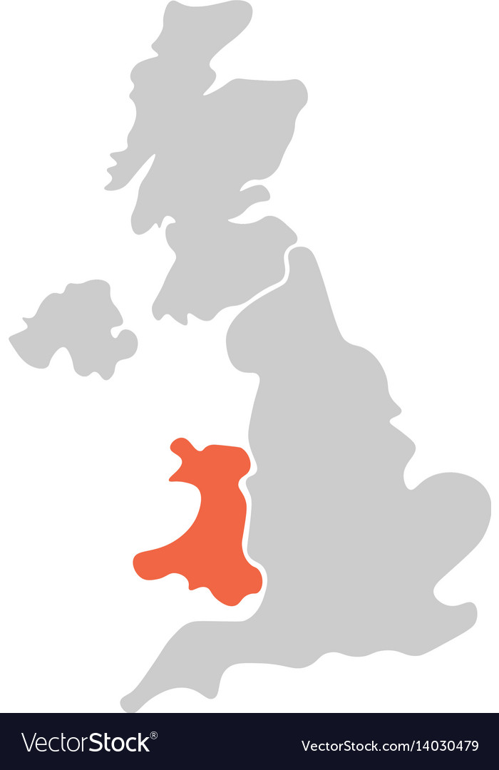 Simplified hand drawn blank map of united kingdom Vector Image