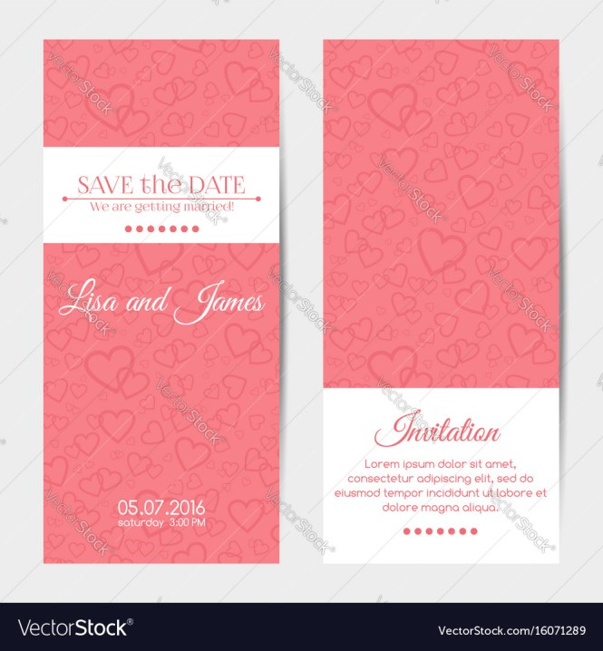 Vertical Wedding Invitation Cards Template