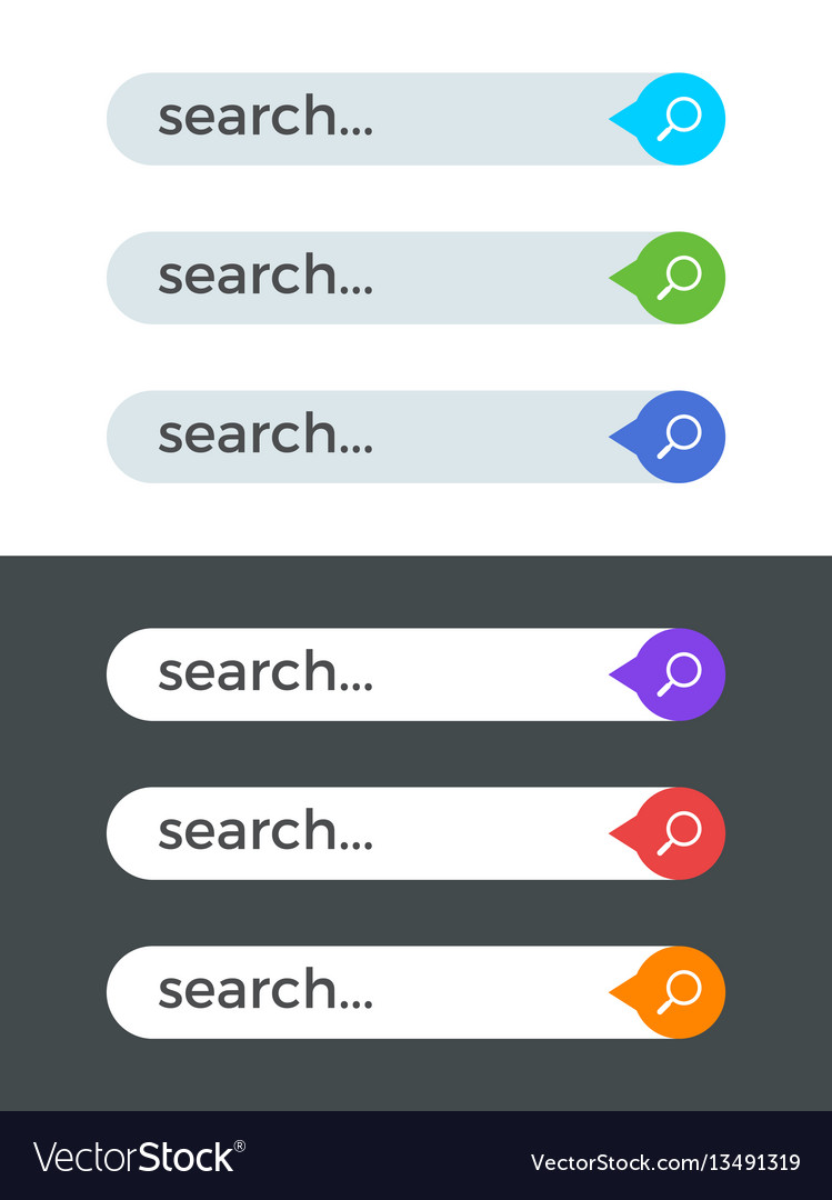 Modern Internet Color Search Bars Templates