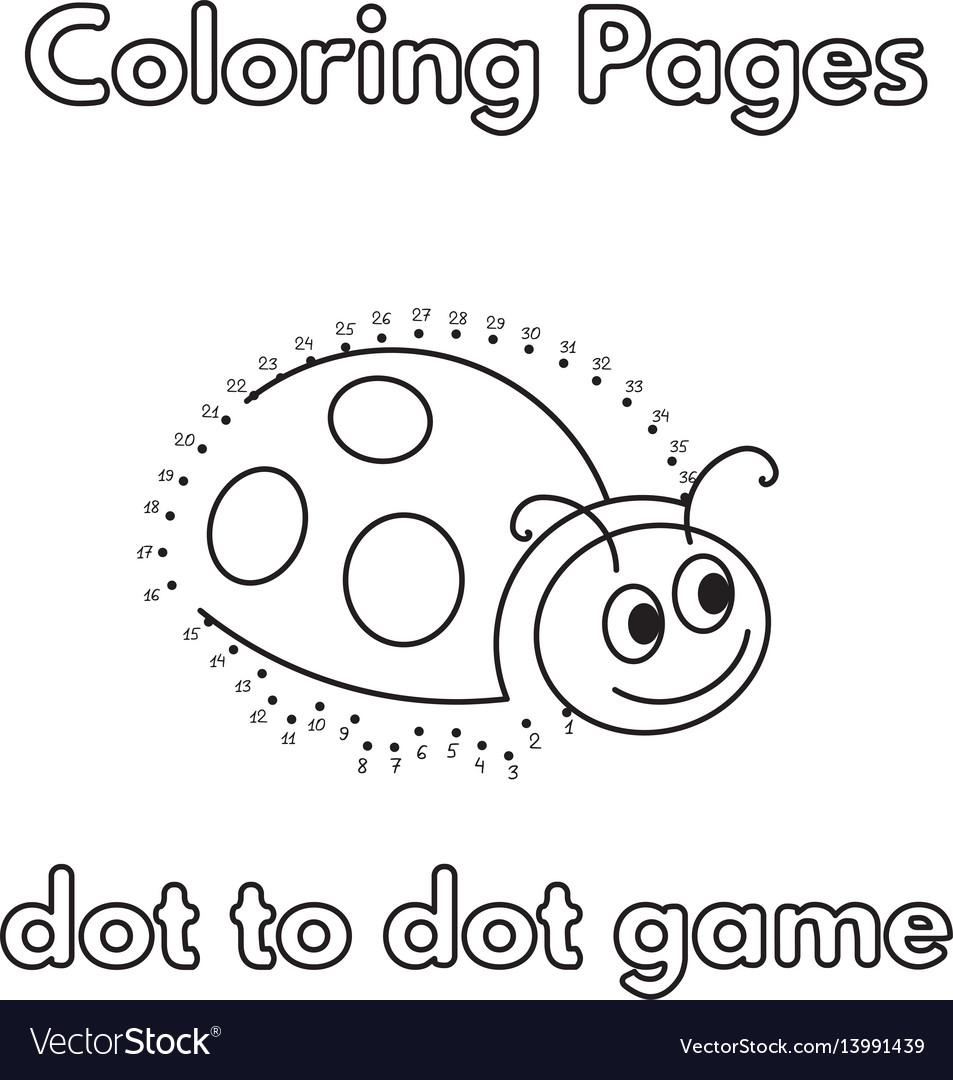 Cartoon Ladybug Coloring Book Royalty Free Vector Image