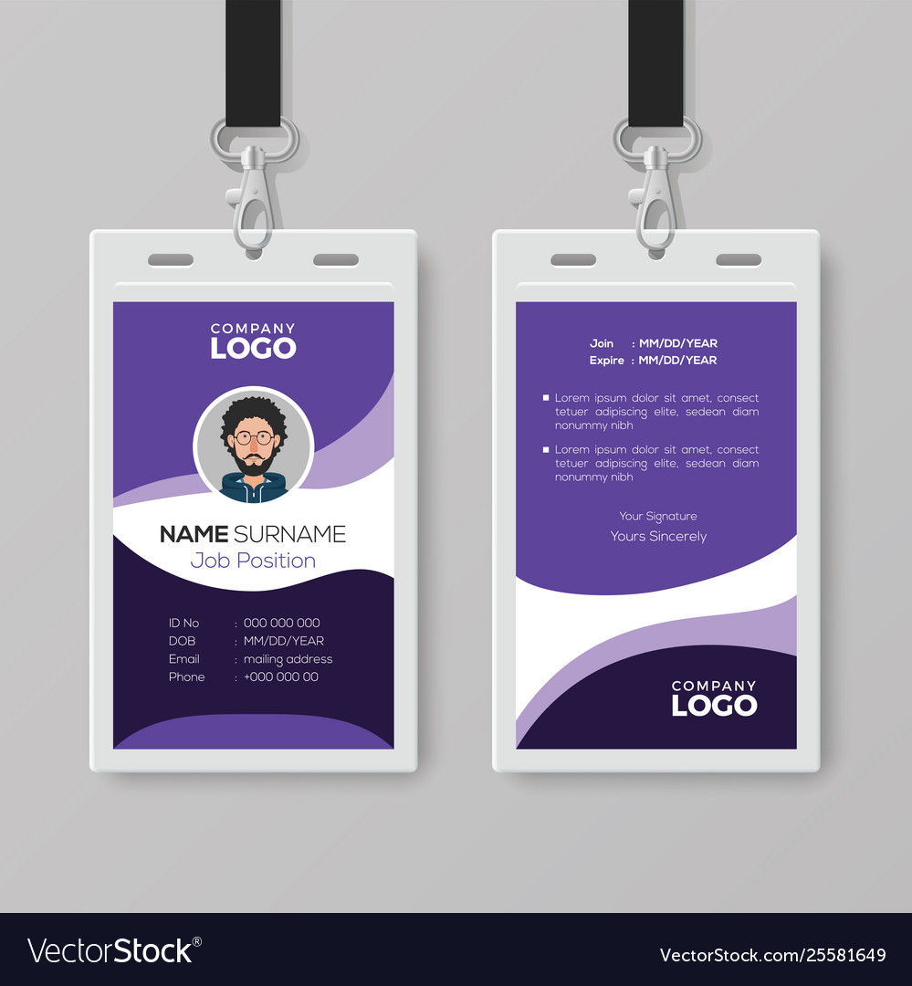 Modern Corporate Id Card Design Template Vector Image