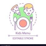 Kids Menu Concept Icon Family Cafe Unhealthy Food Vector Image