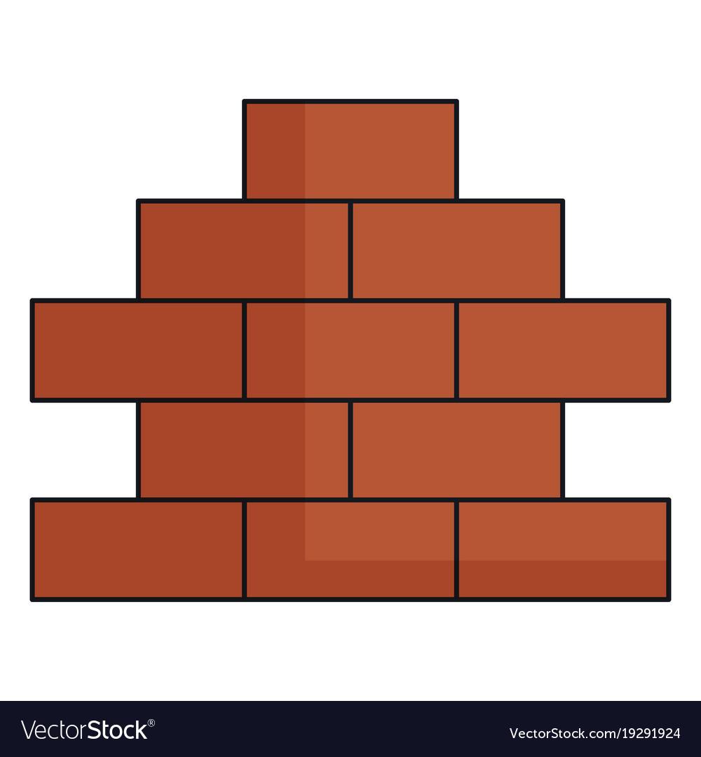 Bricks Wall Pile Icon Royalty Free Vector Image