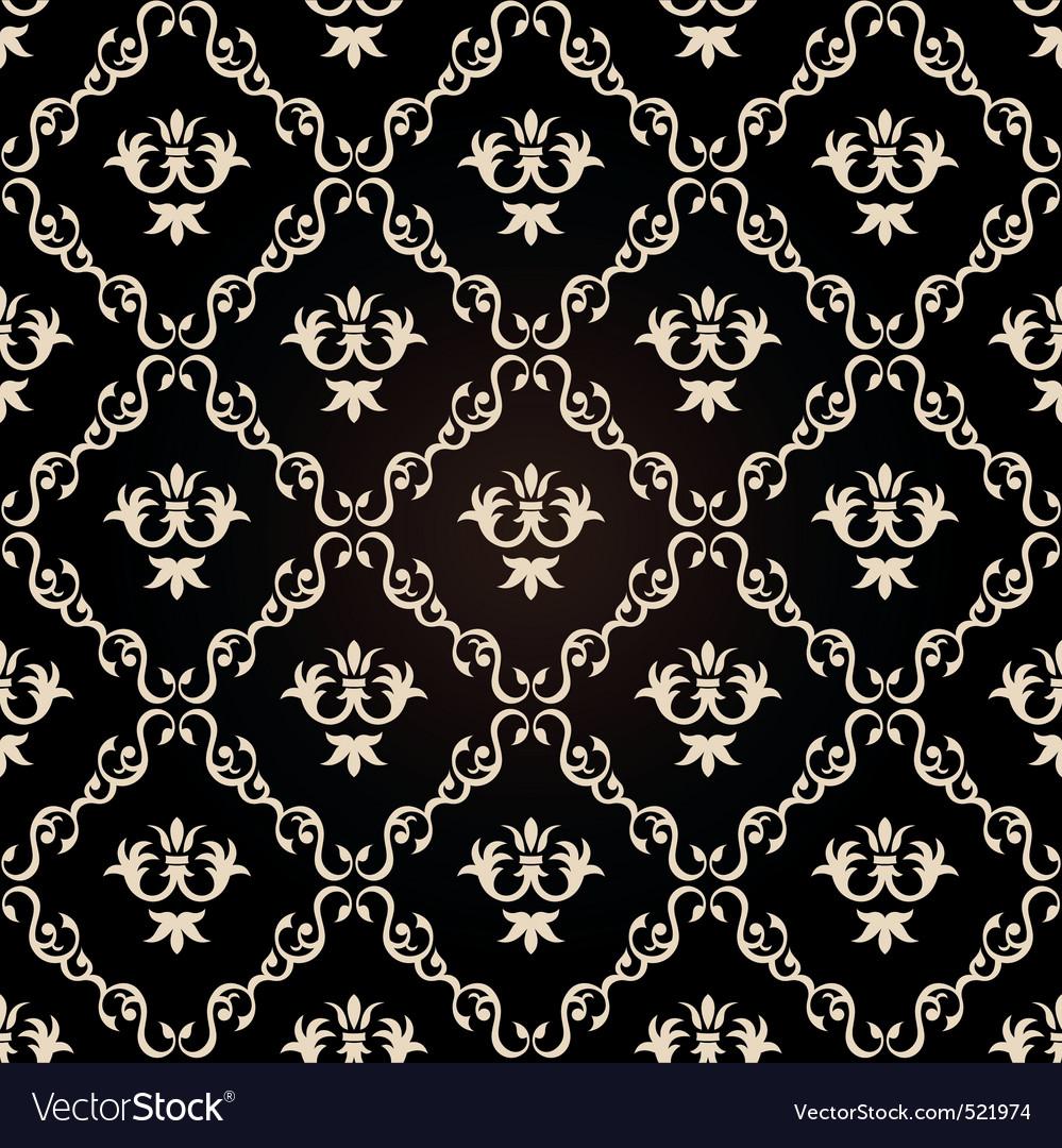 Seamless Vintage Wallpaper Background Floral Black