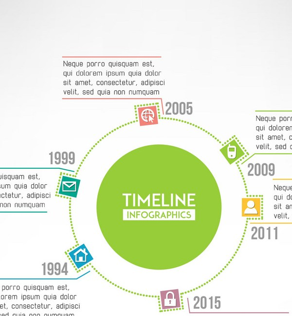Grabs Full Pixels » Timeline template infographic suitable for Vector Image