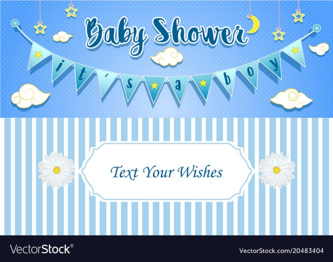 Baby Boy Shower Invitation Card Design Template