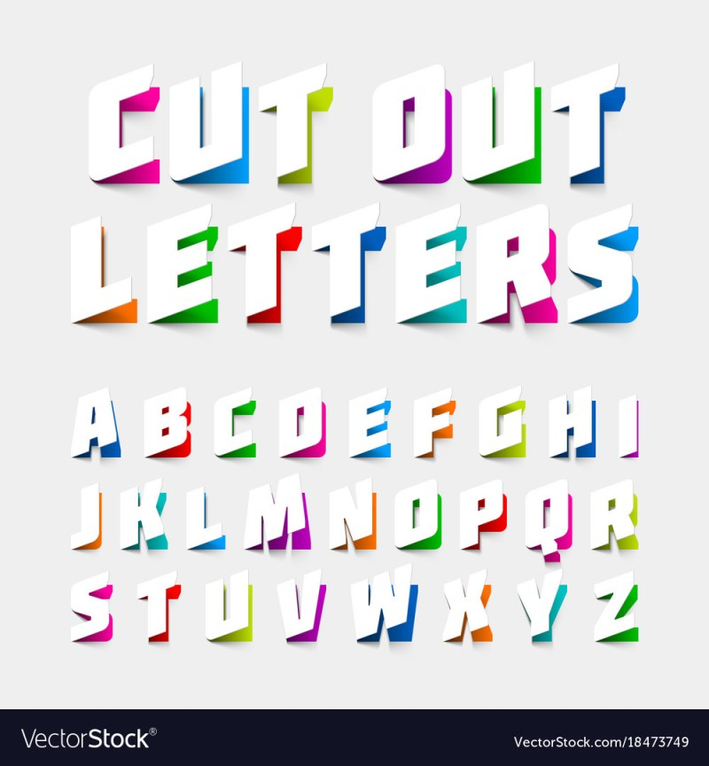 Alphabet letters to cut out poemsrom alphabet letters cut out from paper vector image spiritdancerdesigns Gallery