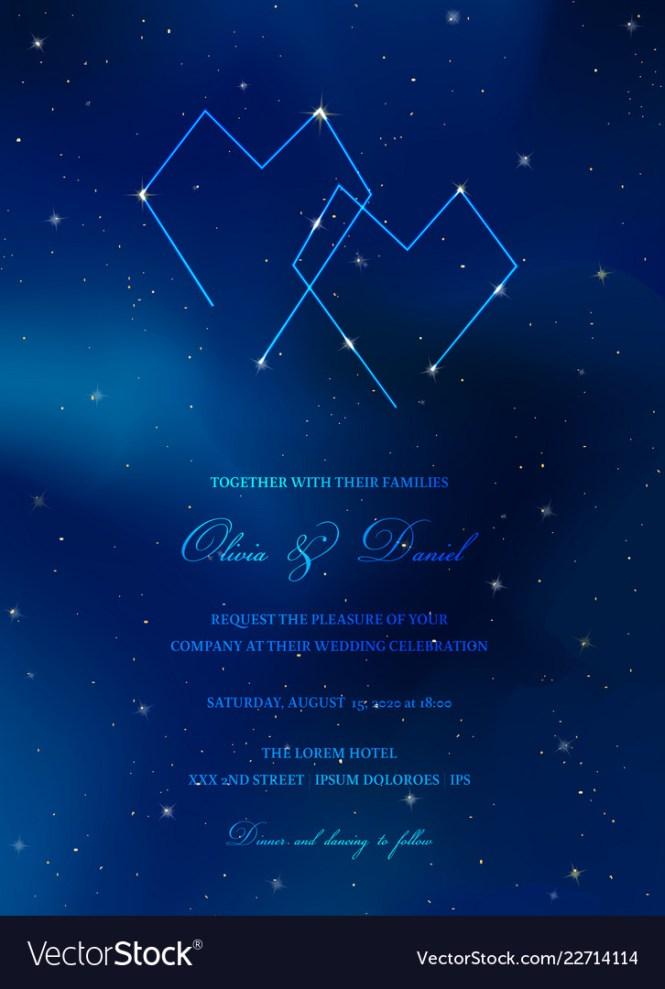 Trendy Wedding Invitation Card Vector Image