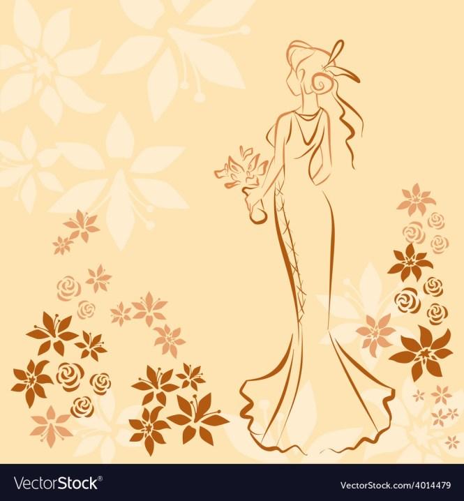Wedding Invitation Card With Elegant