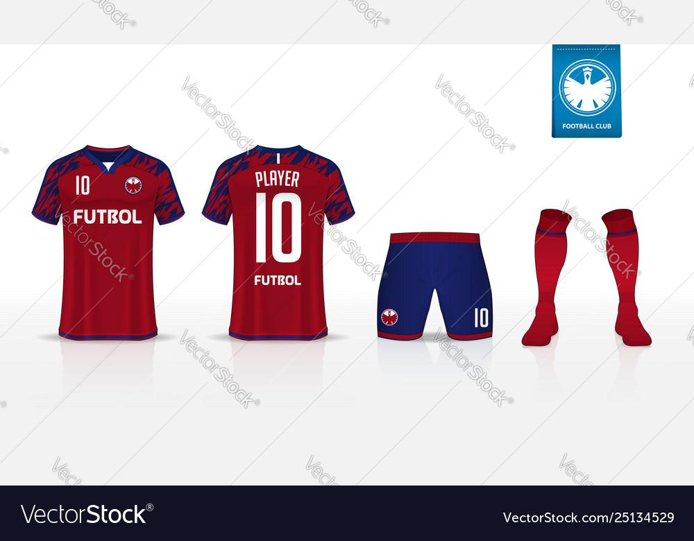 Download Soccer jersey football kit mockup template design Vector Image