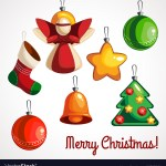 Cartoon Colored Toys For Christmas Tree Of