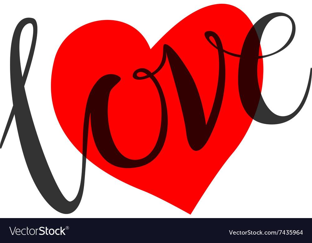 Download Love heart shape design for love symbols Vector Image