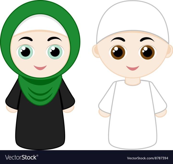 Cartoon Muslim Couple Royalty Free Vector Image
