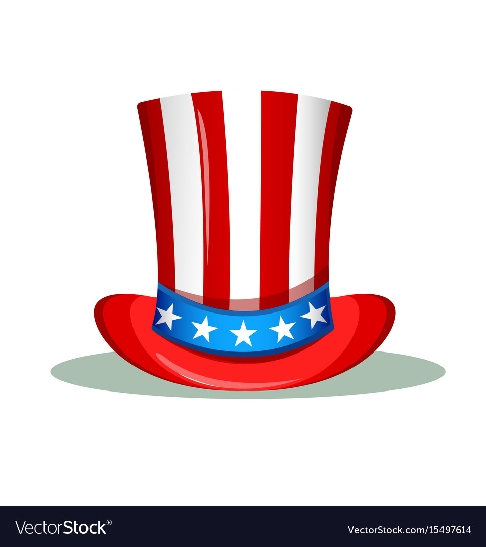 Uncle Sam Hat For The 4th Of July Usa Royalty Free Vector