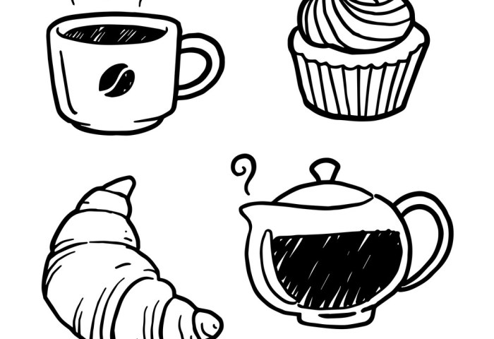 Graphic Coffee And Bakery Royalty Free Vector Image