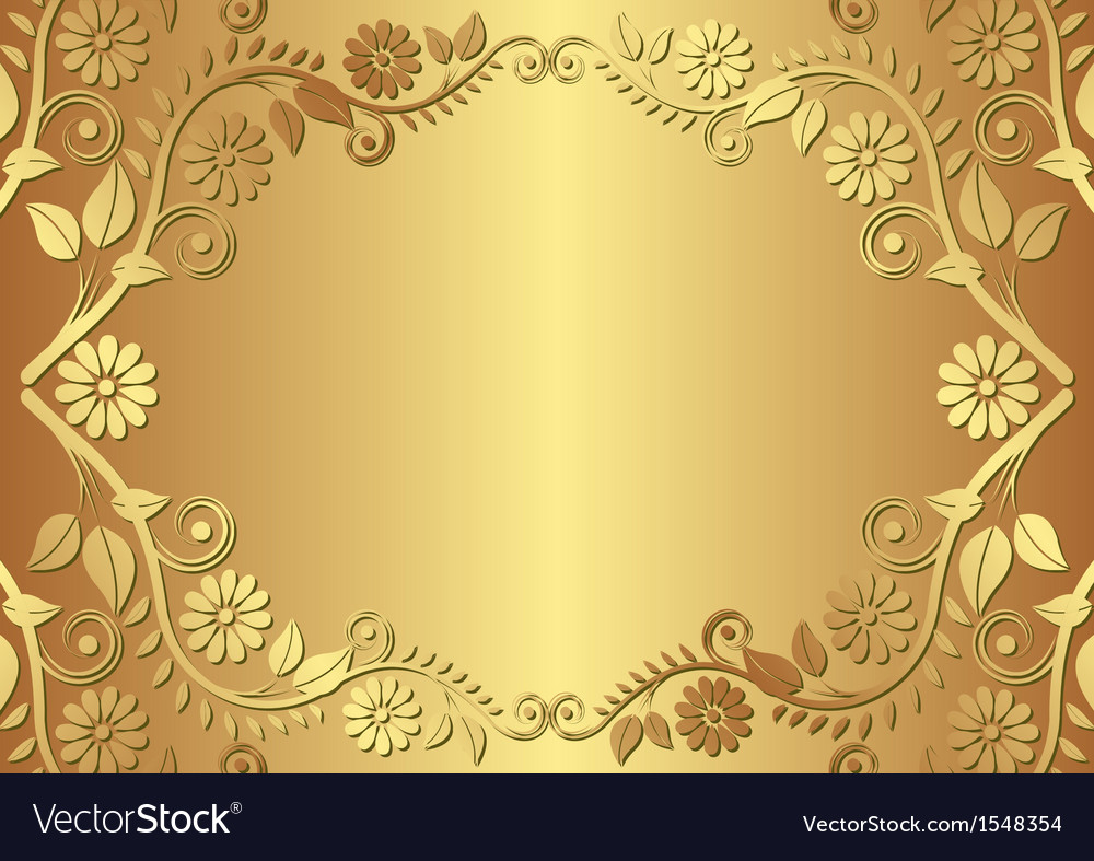 Golden Background Royalty Free Vector Image VectorStock