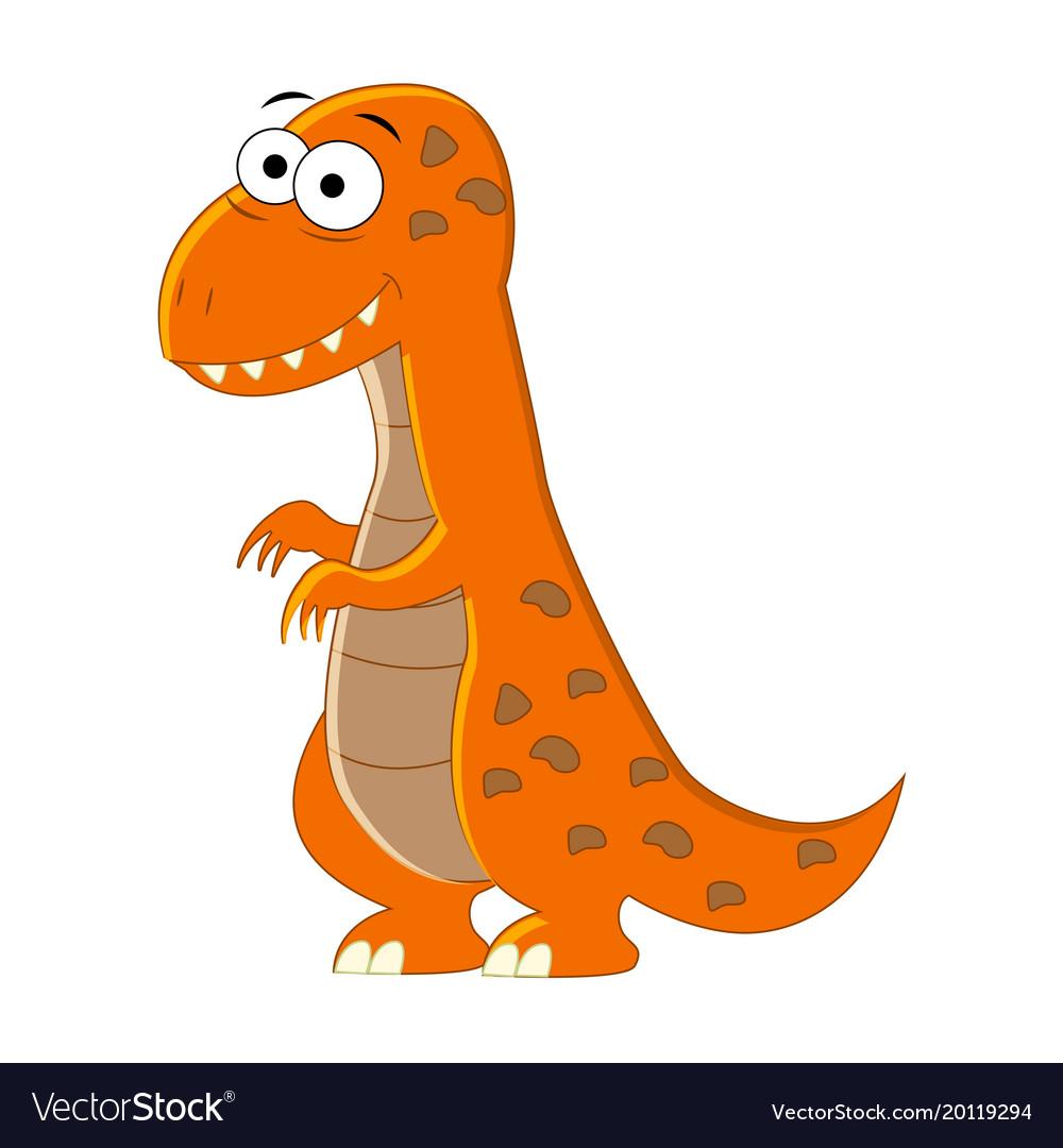 Cute Cartoon T Rex Of Royalty Free Vector Image