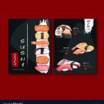Sushi Set Menu For Restaurant Design Template Vector Image