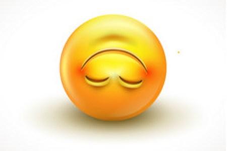 what does upside down emoji mean